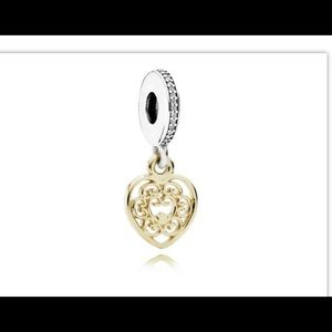 Pandora Jewelry - Authentic Pandora Magnificent Heart Charm 14k/925